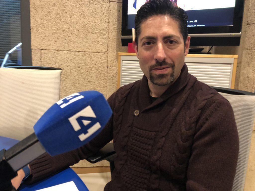 David Fernández en Canal 4
